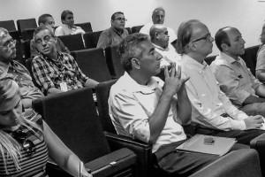 O Segundo Presidente, José Válido e o Diretor-Secretário, Odilon Braga, e representantes das empresas de navegação na reunião no MTE.