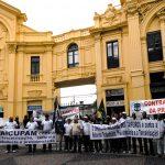 Marítimos vão às ruas apoiar greve geral