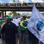 Trabalhadores marítimos participam do ato Ocupa Brasília para barrar as reformas